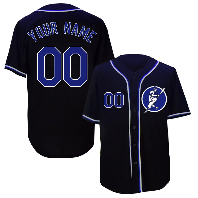 Dodgers Navy Men's Customized New Design Jersey