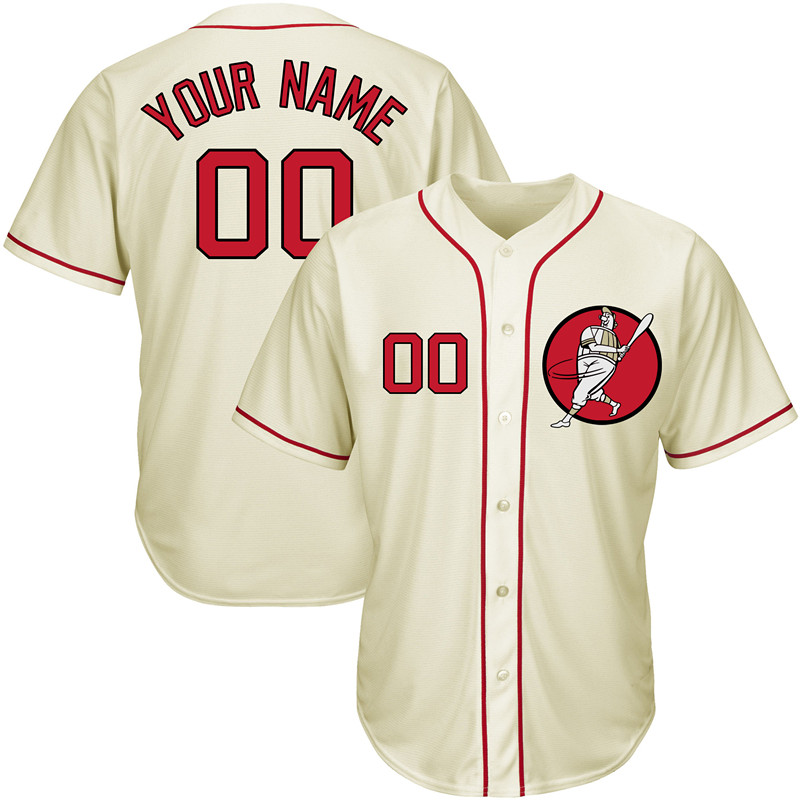 Nationals Cream Men's Customized New Design Jersey