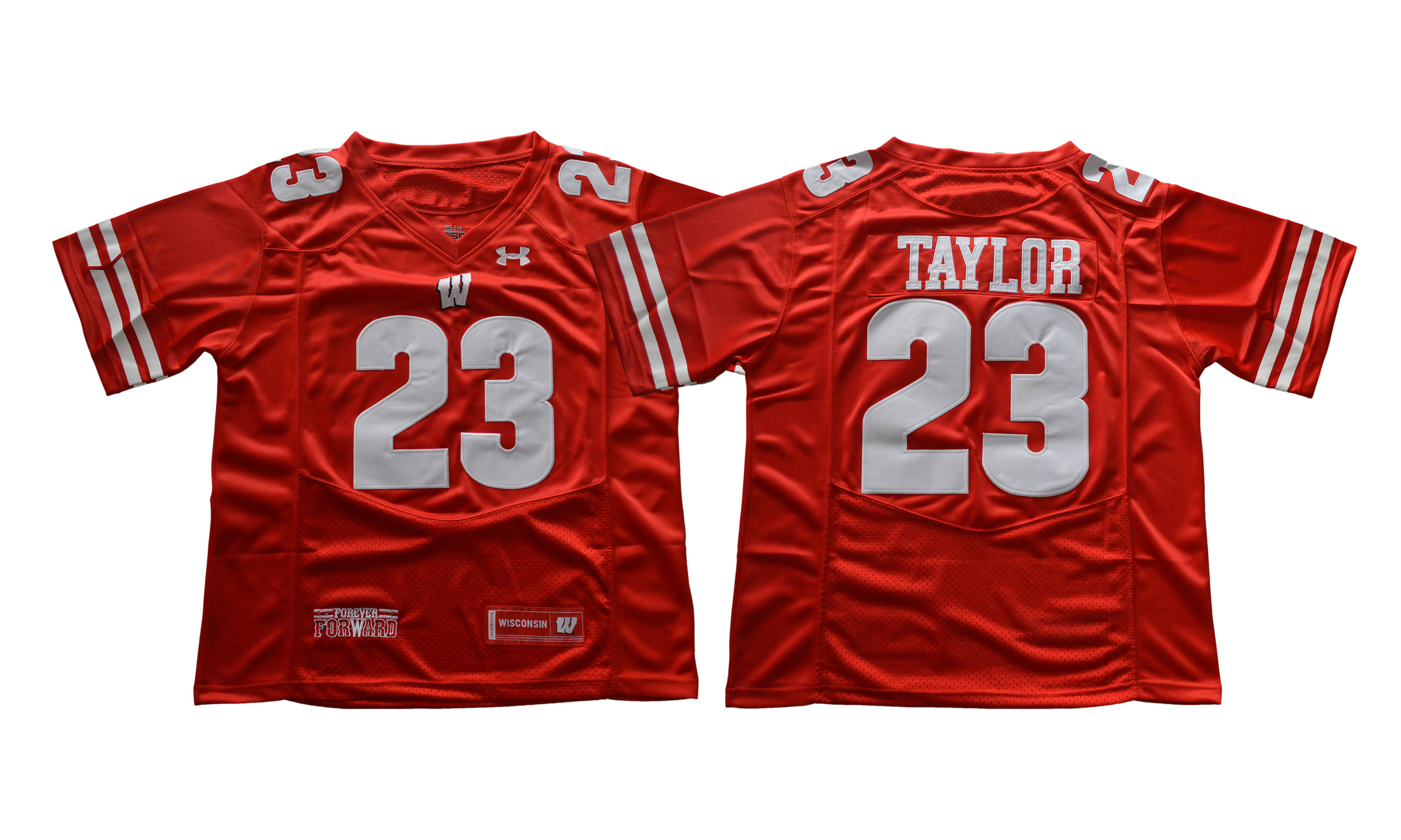 Wisconsin Badgers 23 Jonathan Taylor Red College Football Jersey