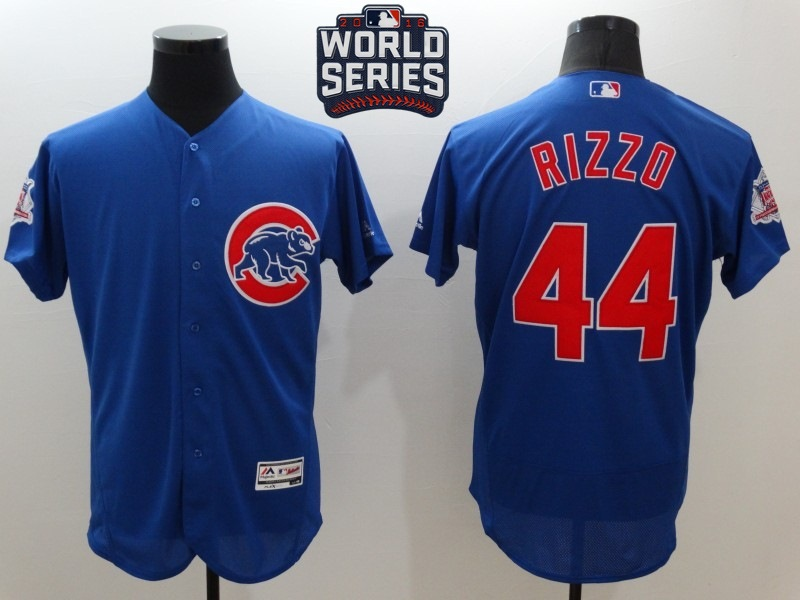 Cubs 44 Anthony Rizzo Royal 2016 World Series Flexbase Jersey