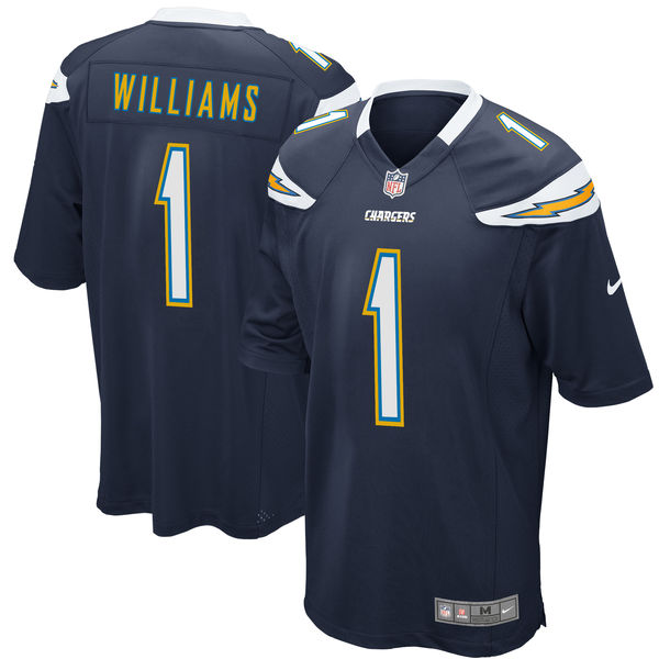 Nike Los Angeles Chargers Mike Williams Navy 2017 Draft Pick Elite Jersey