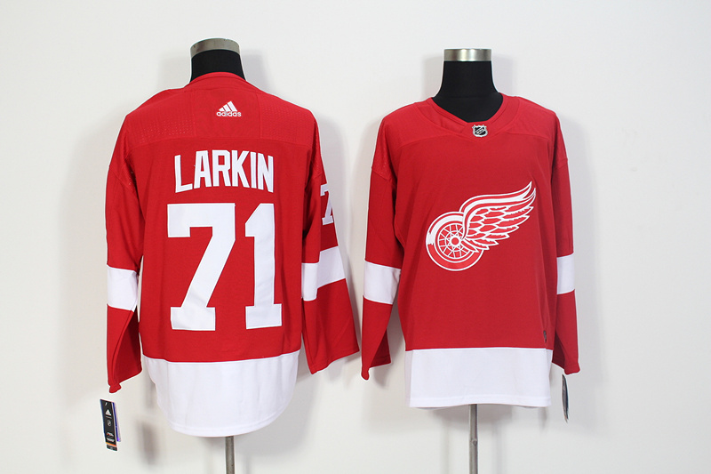 Red Wings 71 Dylan Larkin Red Adidas Jersey