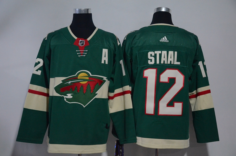 Wild 12 Eric Staal Green Adidas Jersey