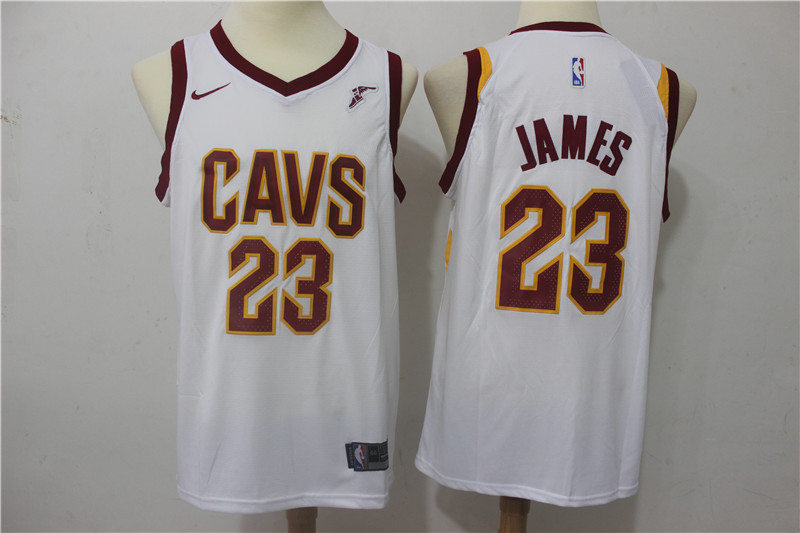Cavaliers 23 LeBron James White Nike Swingman Jersey