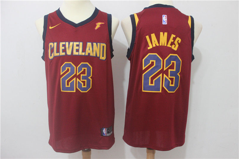 Cavaliers 23 LeBron James Red Nike Swingman Jersey