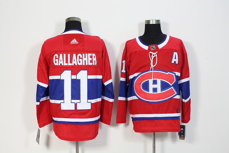 Canadiens 11 Brendan Gallagher Red Adidas Jersey