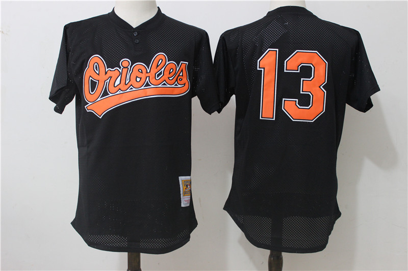 Orioles 13 Manny Machado Black Cooperstown Collection Mesh Batting Practice Jersey