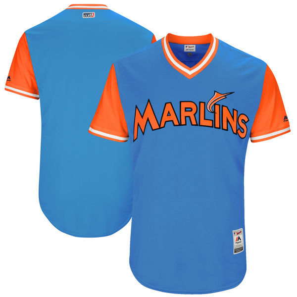 Marlins Majestic Royal 2017 Players Weekend Team Jersey