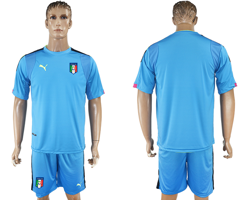 Italy Blue UEFA Euro 2016 Goalkeeper Soccer Jersey