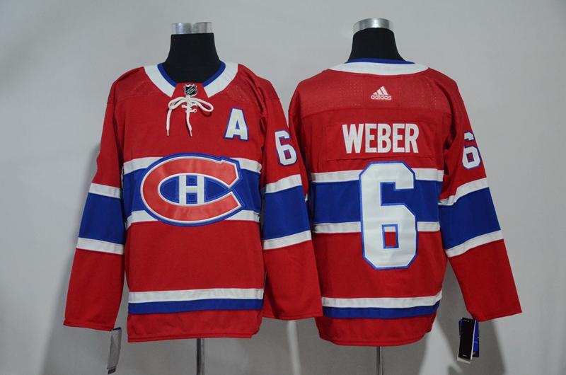Canadiens 6 Shea Weber Red Adidas Jersey