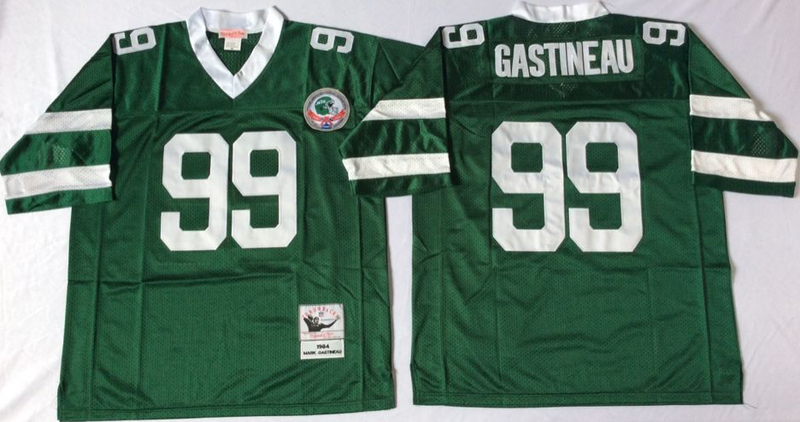 Jets 99 Mark Gastineau Green M&N Throwback Jersey