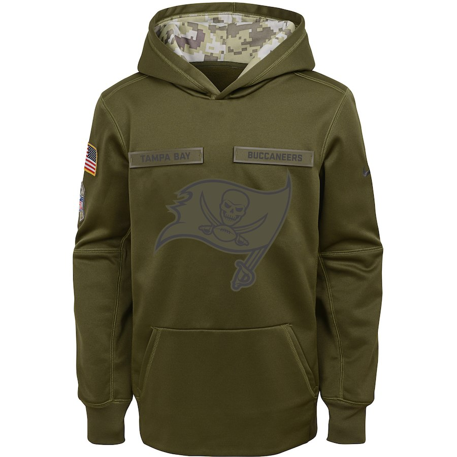 Tampa Bay Buccaneers Nike Youth Salute to Service Pullover Performance Hoodie Green
