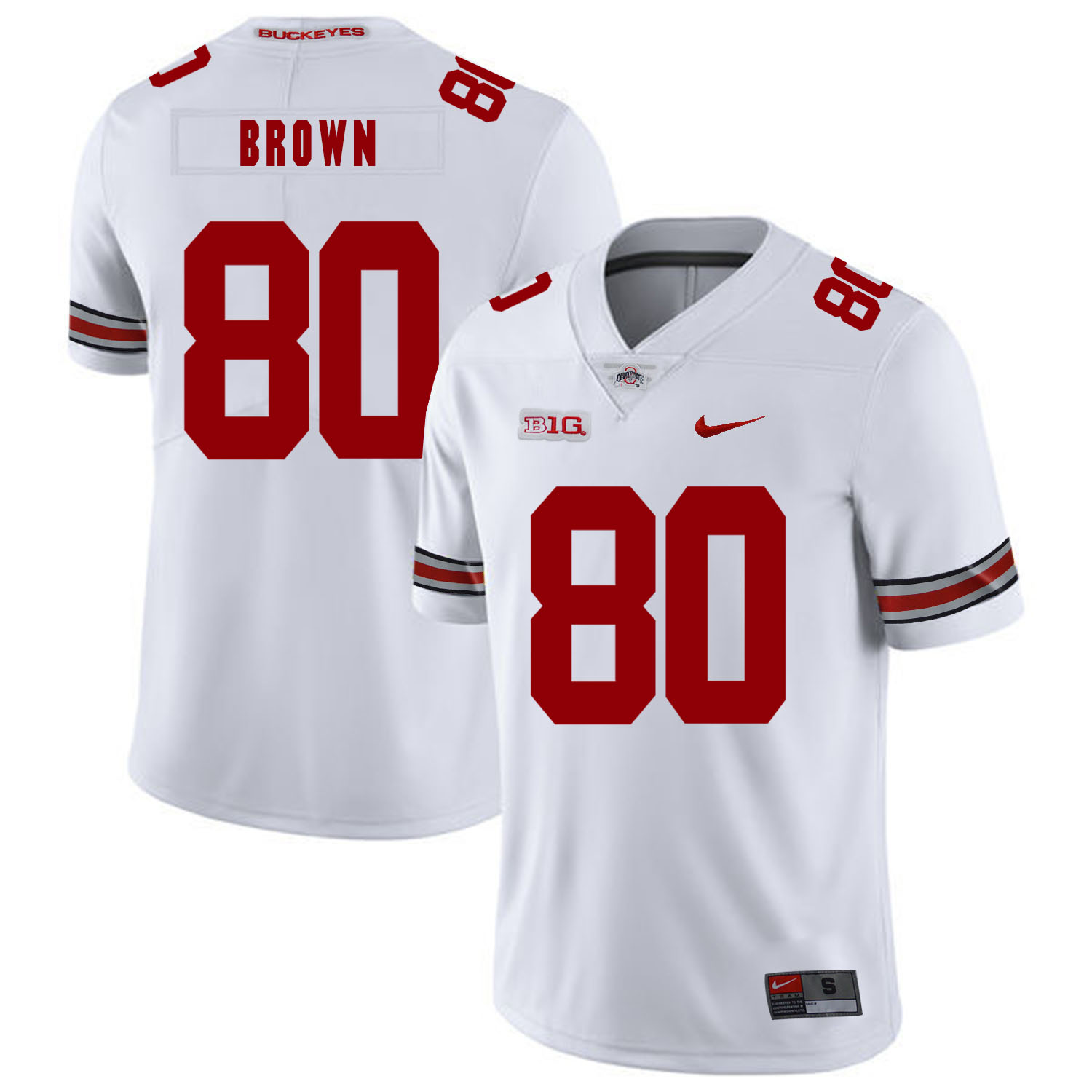 Ohio State Buckeyes 80 Noah Brown White Nike College Football Jersey