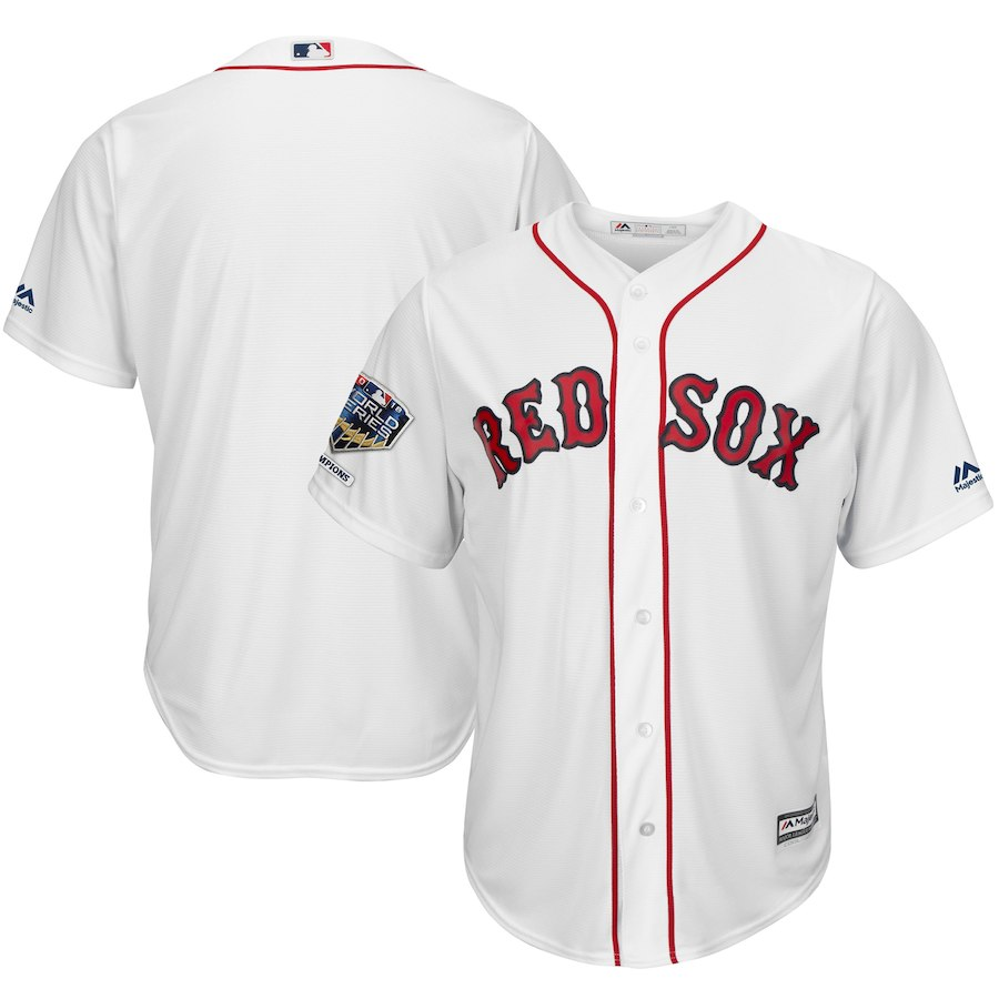 Red Sox Blank White 2018 World Series Champions Home Cool Base Team Jersey