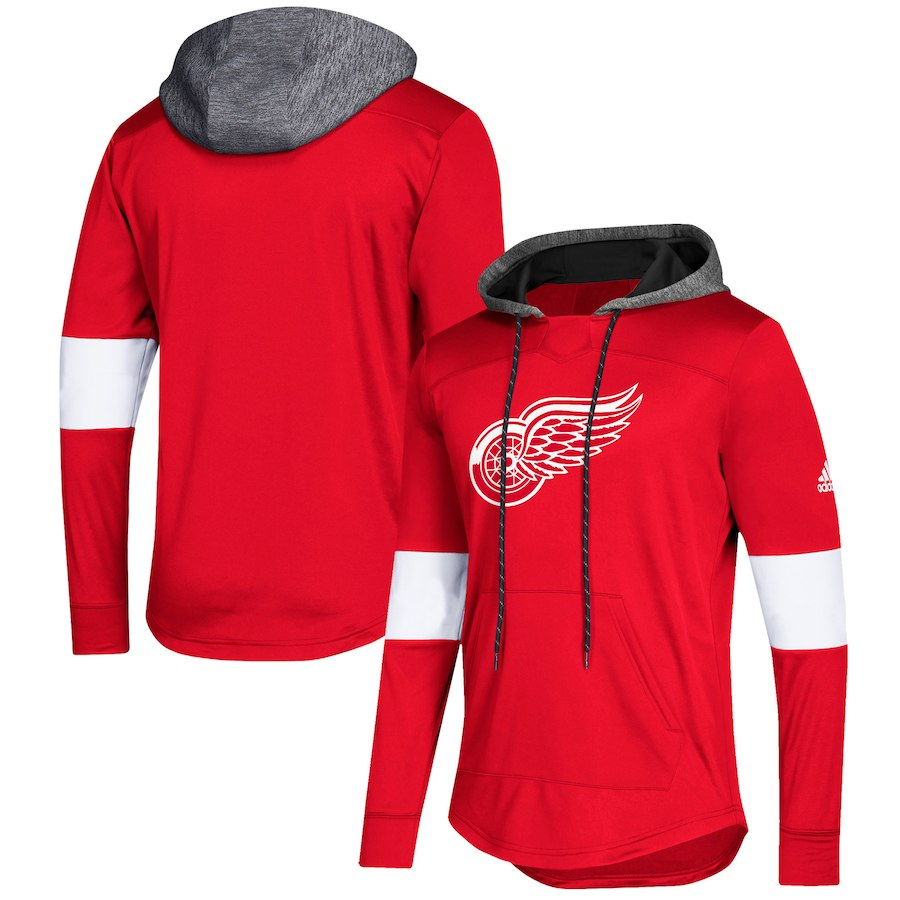 Detroit Red Wings Red Women's Customized All Stitched Hooded Sweatshirt