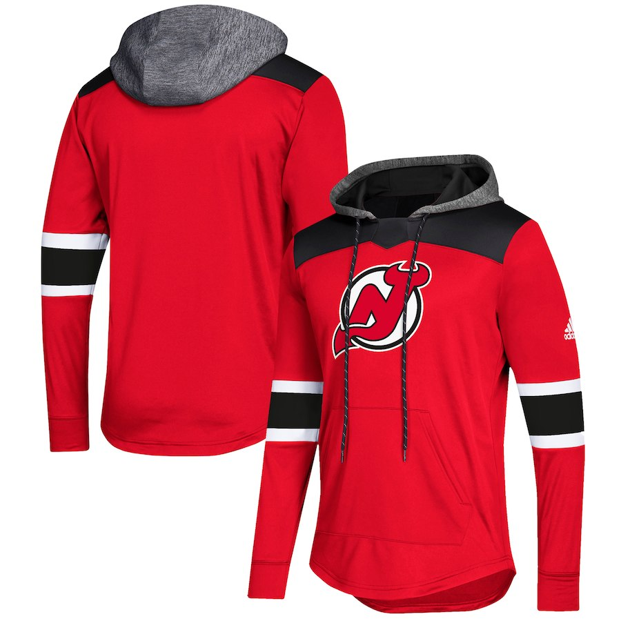 New Jersey Devils Red Women's Customized All Stitched Hooded Sweatshirt