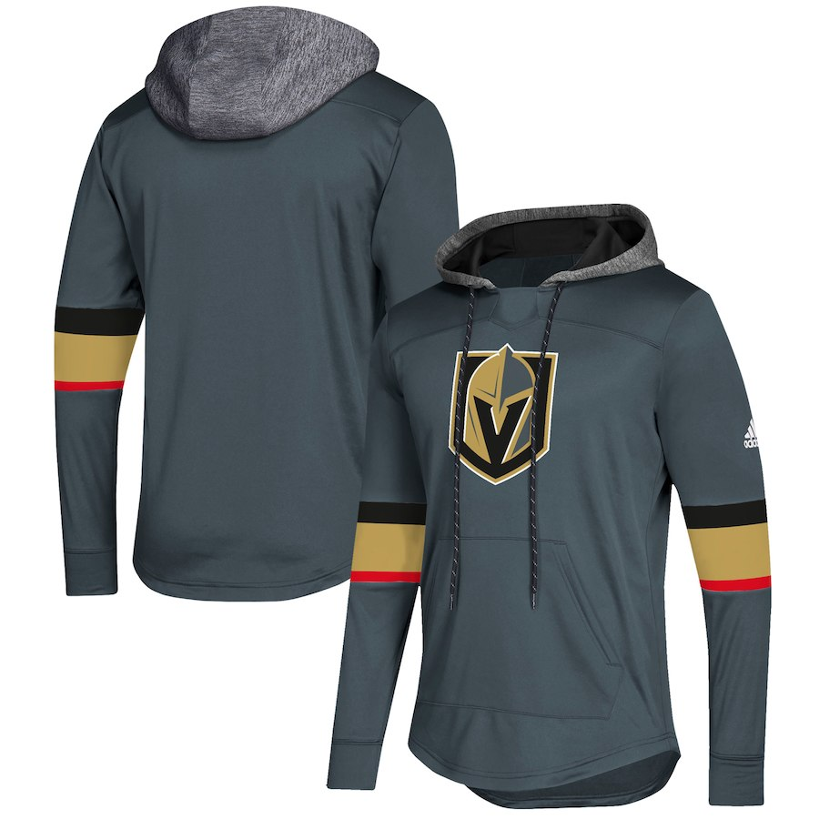 Vegas Golden Knights Gray Women's Customized All Stitched Hooded Sweatshirt