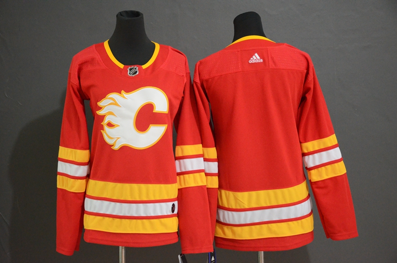Flames Blank Red Women Adidas Jersey