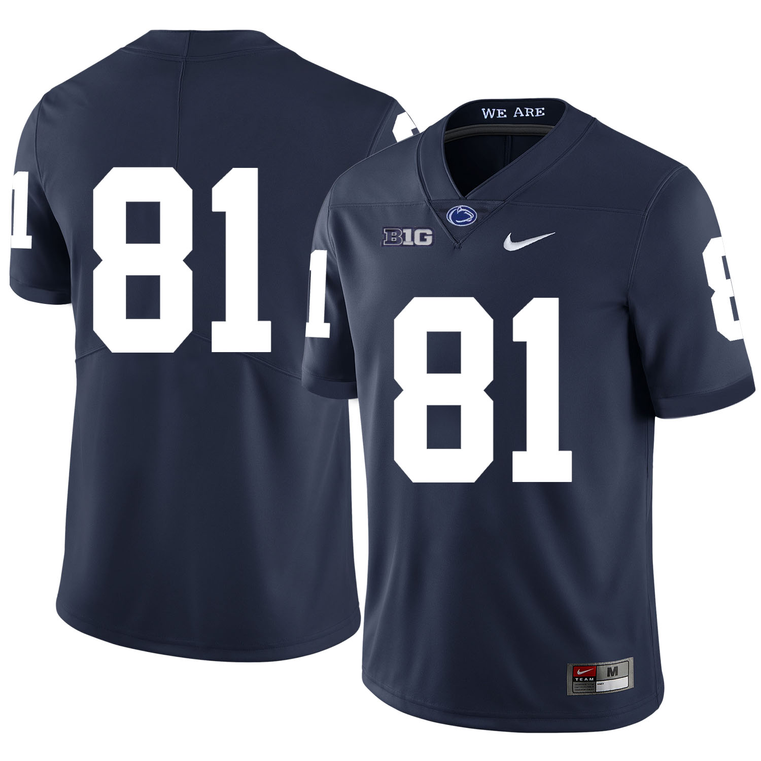 Penn State Nittany Lions 81 Jack Crawford Navy Nike College Football Jersey