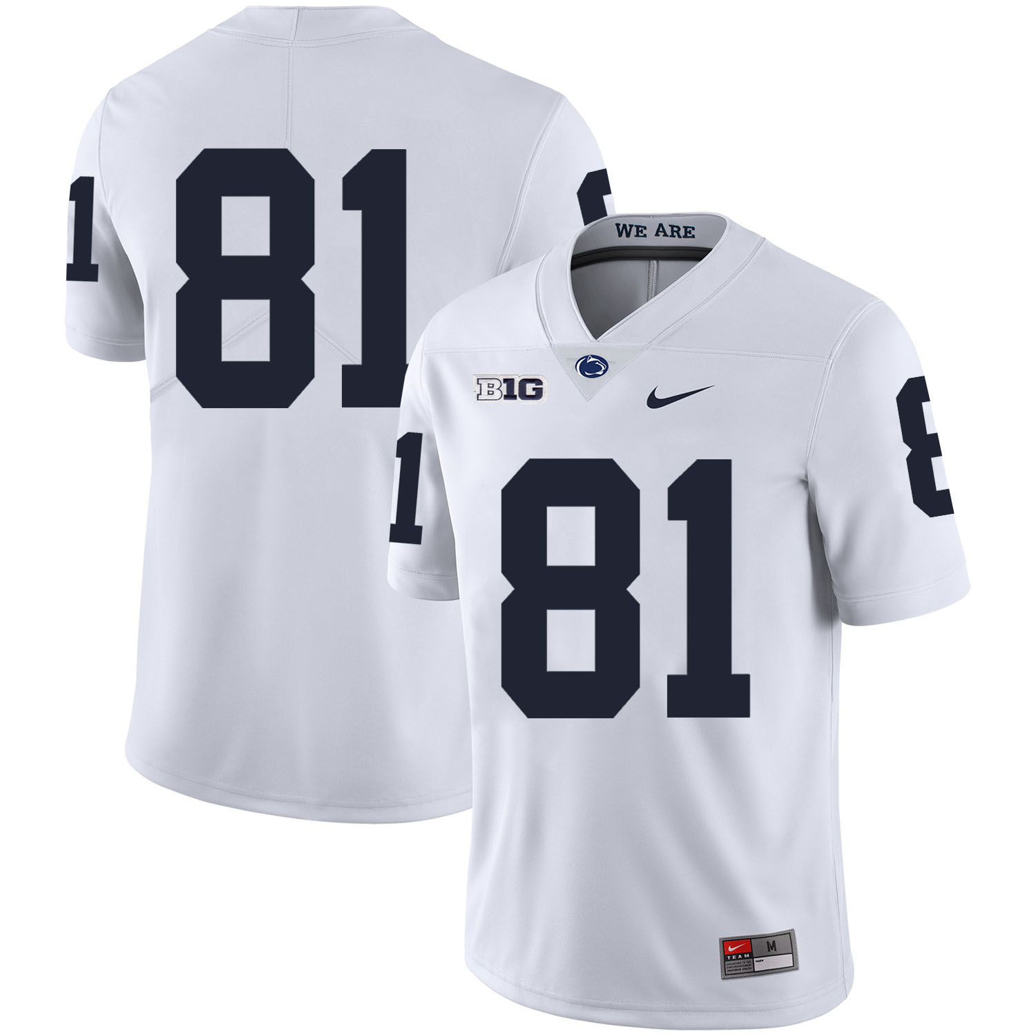 Penn State Nittany Lions 81 Jack Crawford White Nike College Football Jersey