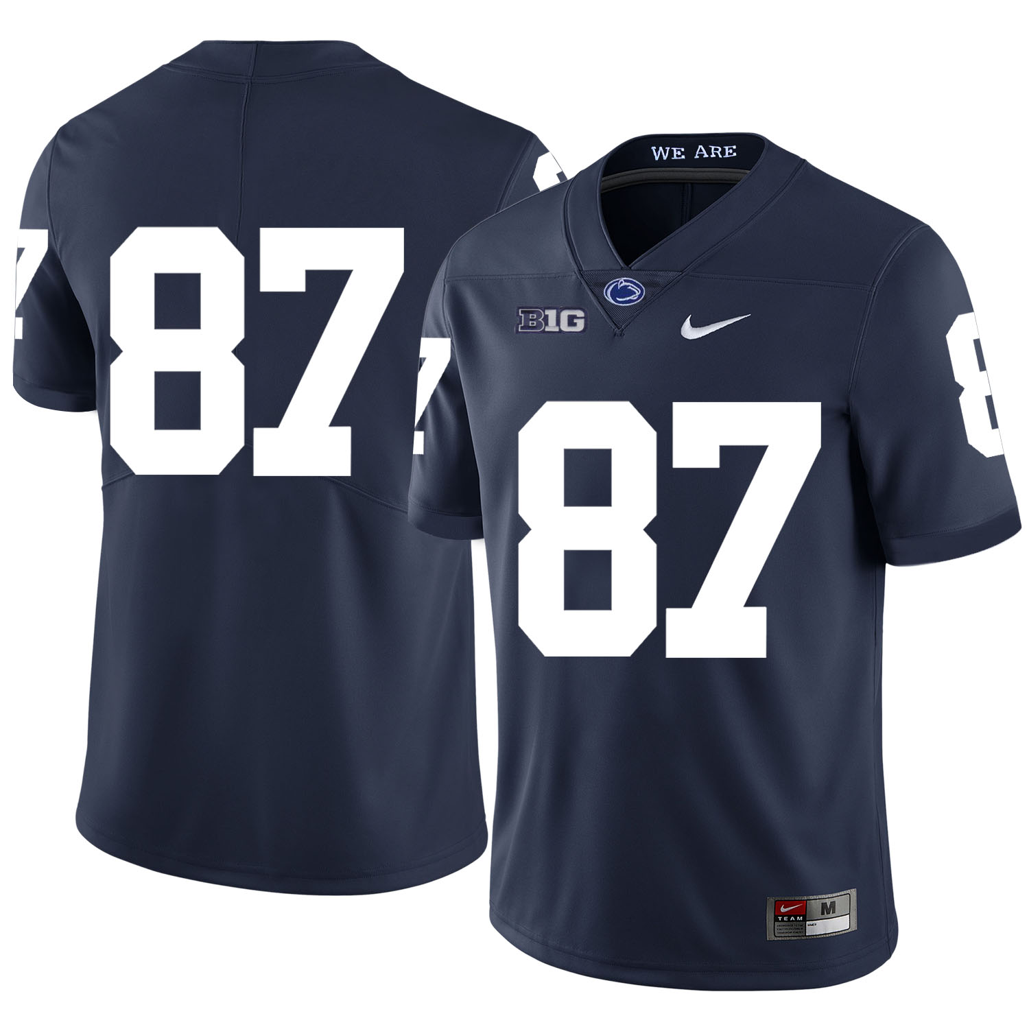 Penn State Nittany Lions 87 Kyle Carter Navy Nike College Football Jersey
