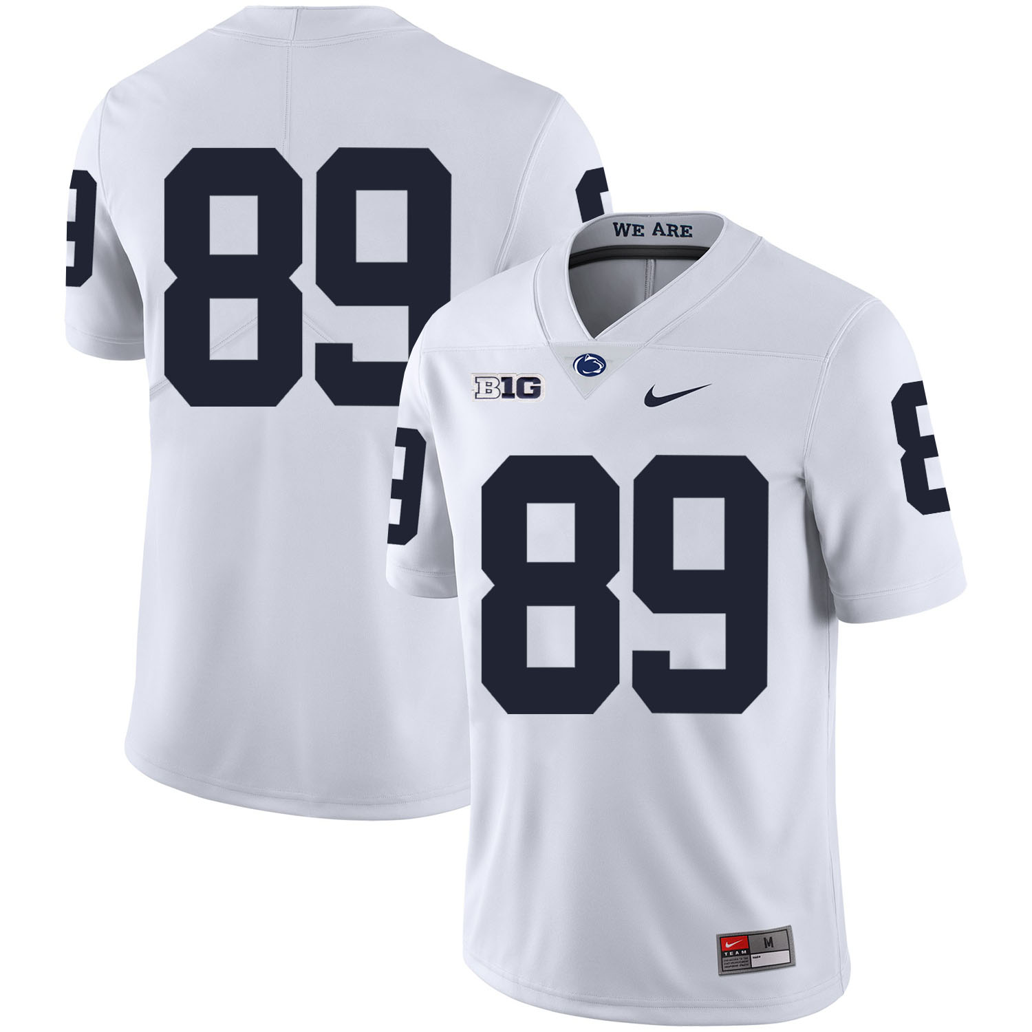 Penn State Nittany Lions 89 Garry Gilliam White Nike College Football Jersey