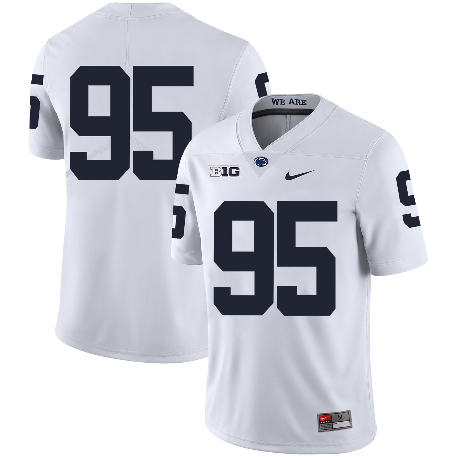 Penn State Nittany Lions 95 Carl Nassib White Nike College Football Jersey