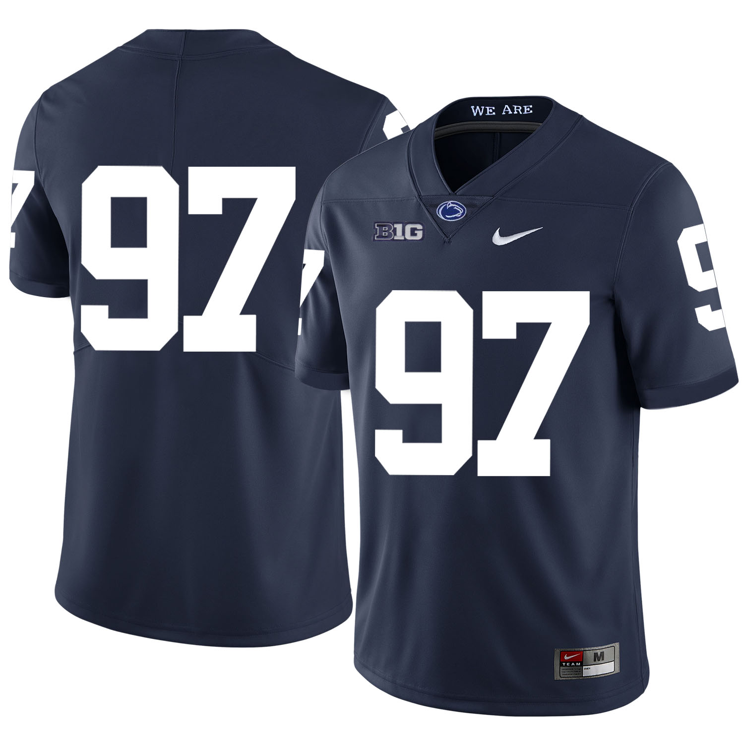 Penn State Nittany Lions 97 Sam Ficken Navy Nike College Football Jersey