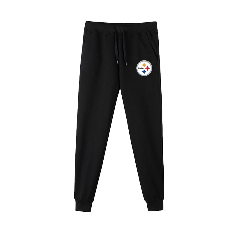 Pittsburgh Steelers Black Men's Winter Thicken NFL Sports Pant