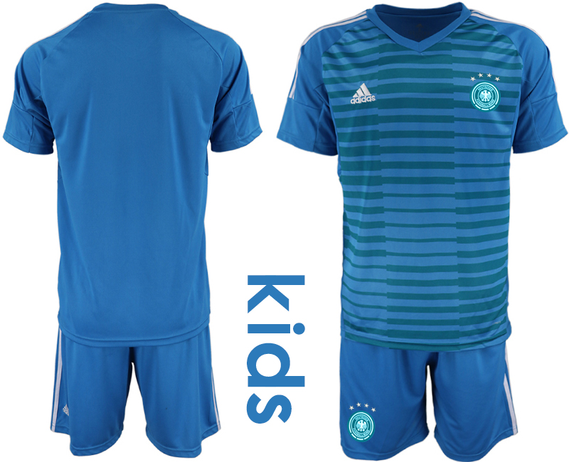 2018-19 Germany Blue Youth Goalkeeper Soccer Jersey