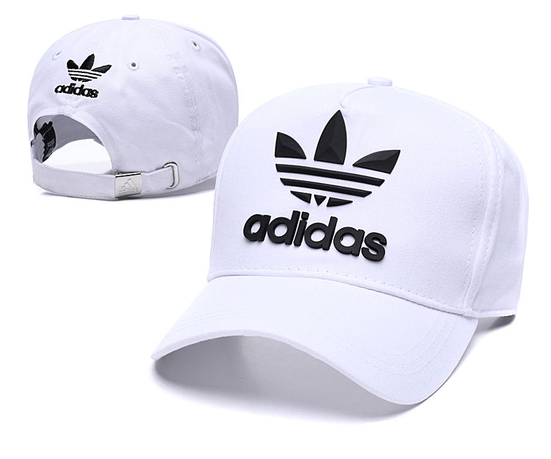 Adidas Originals Classic White Peaked Adjustable Hat TX