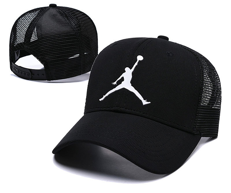 Air Jordan Classic Black Mesh Peaked Adjustable Hat TX