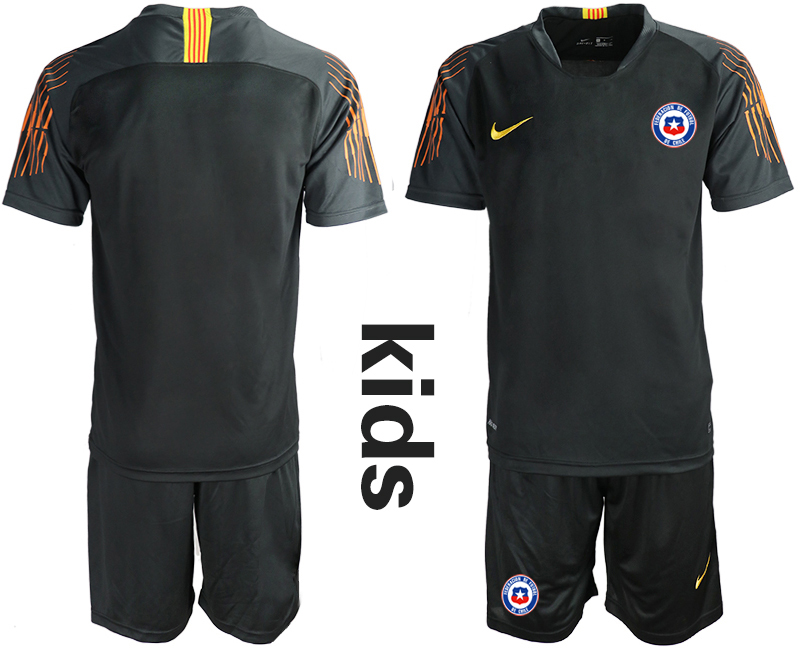 2018-19 Chile Black Youth Goalkeeper Soccer Jersey