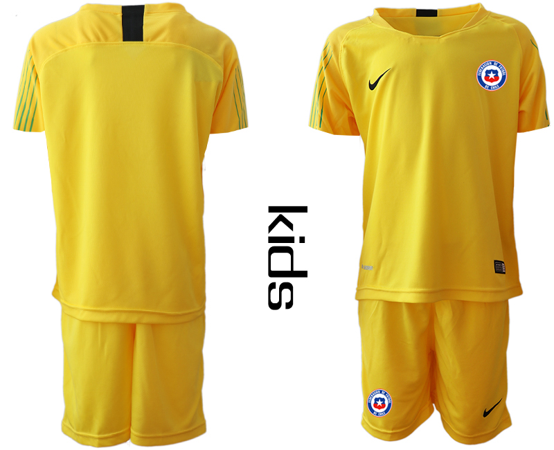 2018-19 Chile Yellow Youth Goalkeeper Soccer Jersey