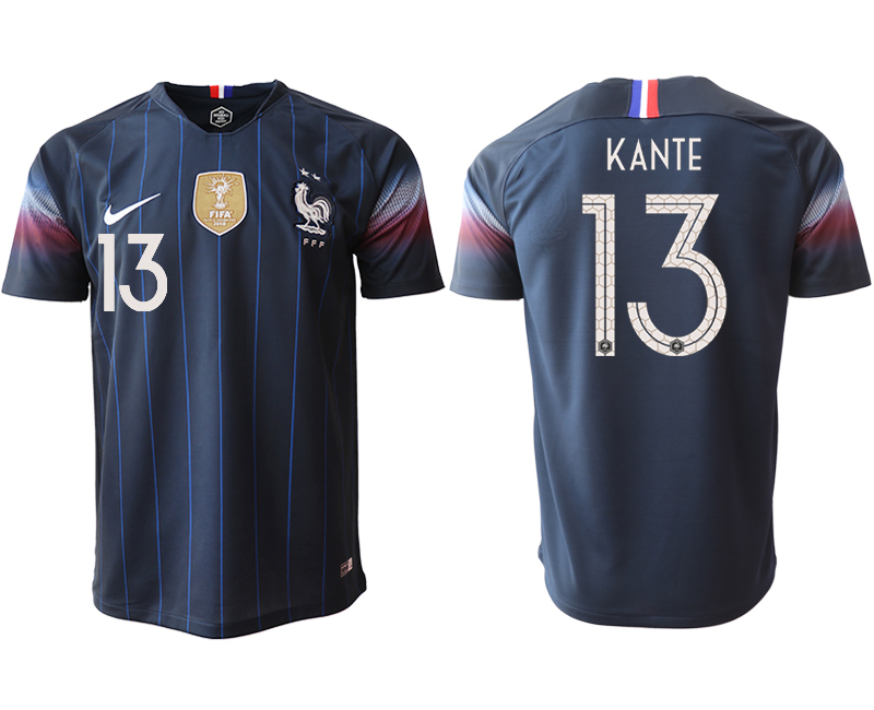 2018-19 France 13 KANTE Home Thailand Soccer Jersey