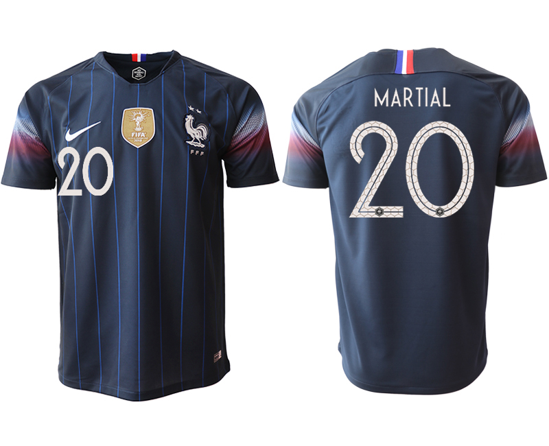 2018-19 France 20 MARTIAL Home Thailand Soccer Jersey