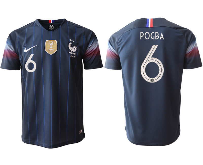 2018-19 France 6 POGBA Home Thailand Soccer Jersey