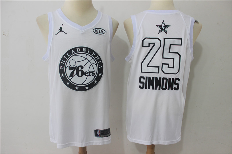 76ers 25 Ben Simmons White 2018 All-Star Game Swingman Jersey
