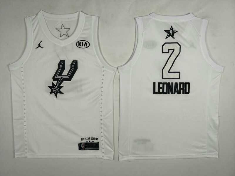 Spurs 2 Kawhi Leonard White 2018 All-Star Game Jordan Brand Authentic Jersey