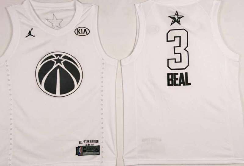Wizards 3 Bradley Beal White 2018 All-Star Game Jordan Brand Authentic Jersey