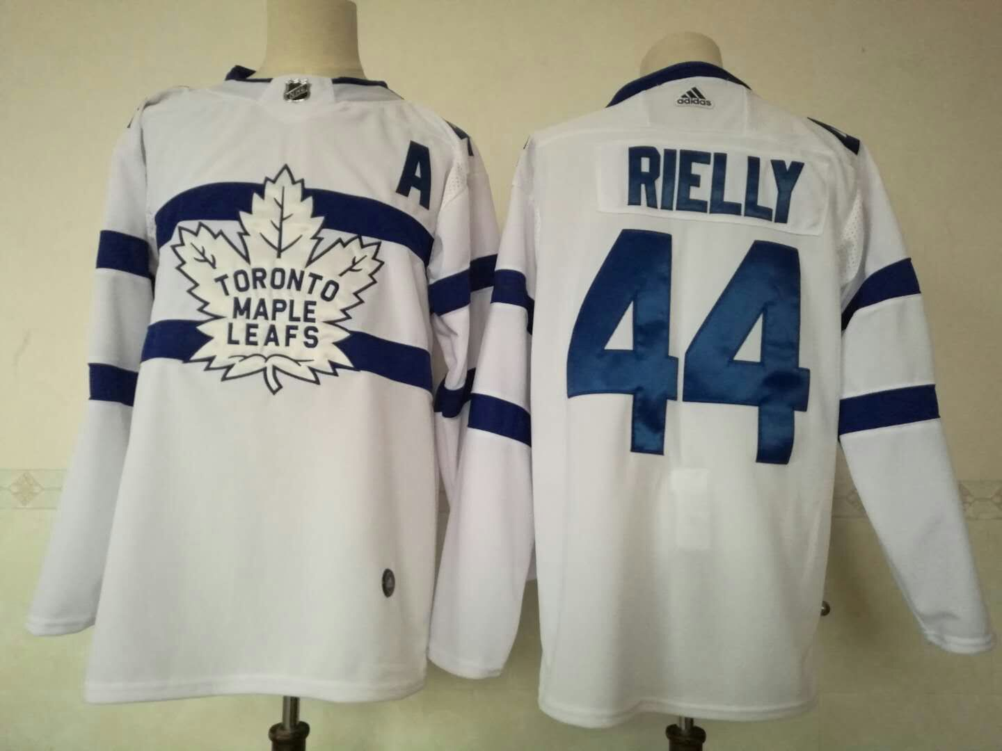 Maple Leafs 44 Morgan Rielly White 2018 NHL Stadium Series Adidas Jersey