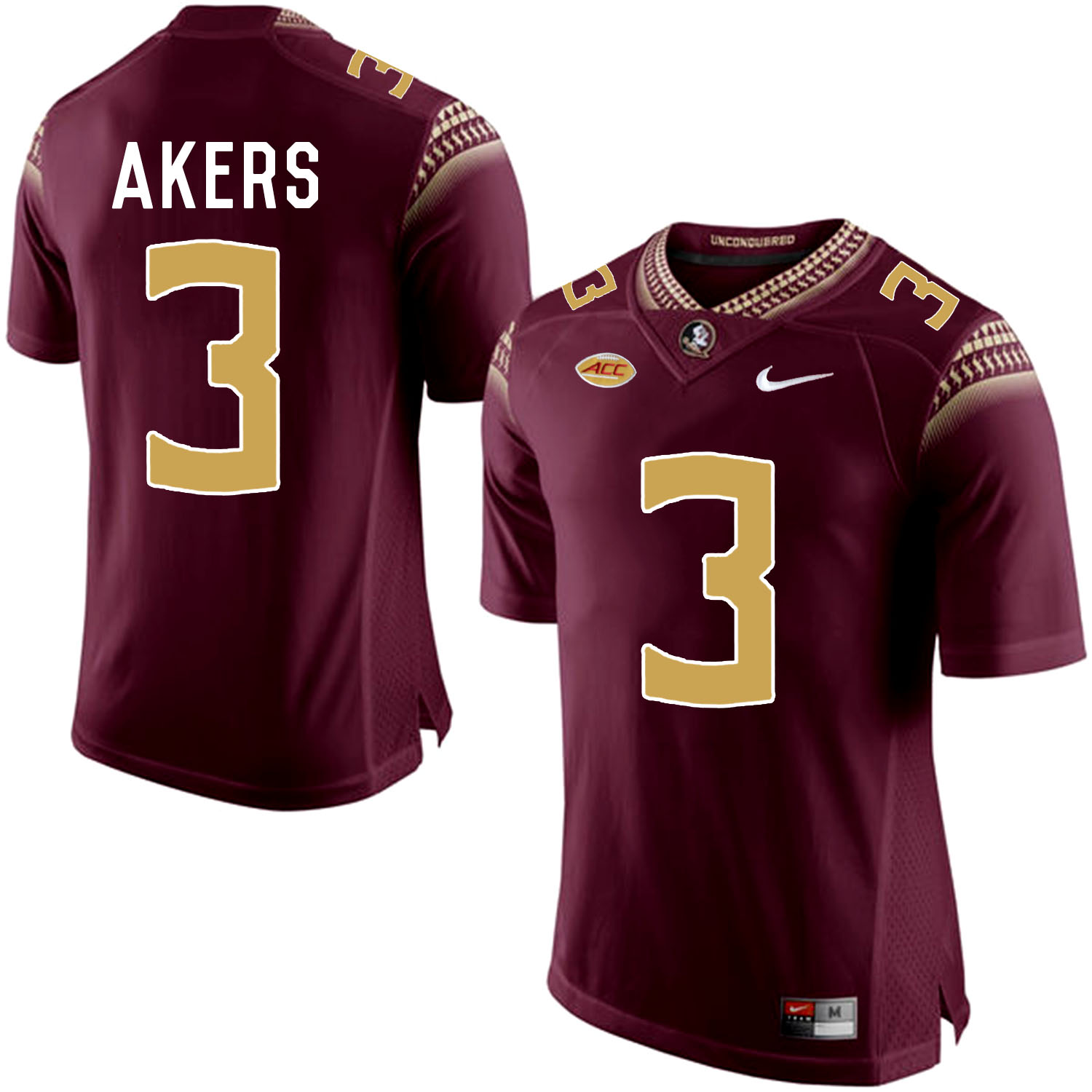 Florida State Seminoles 3 Cam Akers Red College Football Jersey
