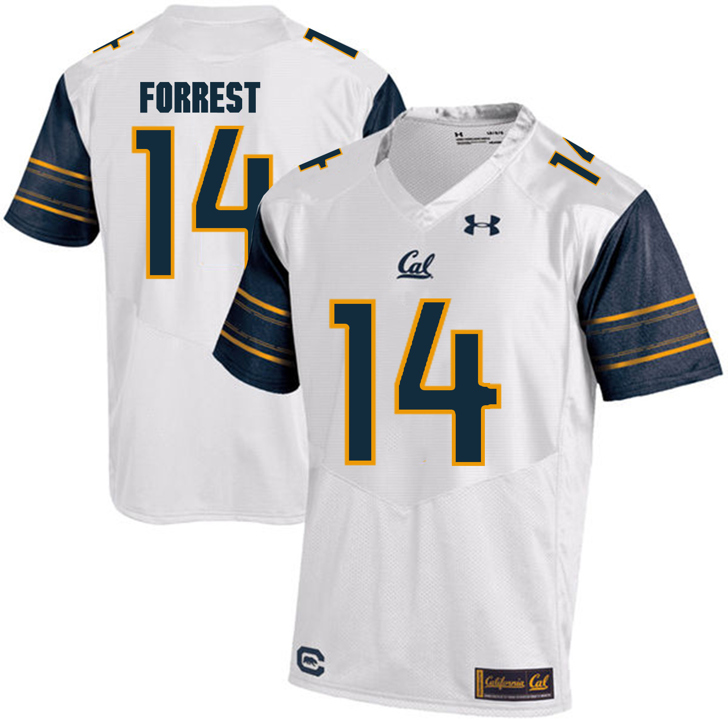 California Golden Bears 14 Chase Forrest White College Football Jersey