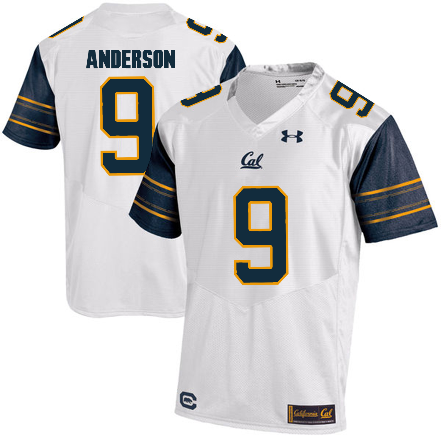 California Golden Bears 9 C.J. Anderson White College Football Jersey