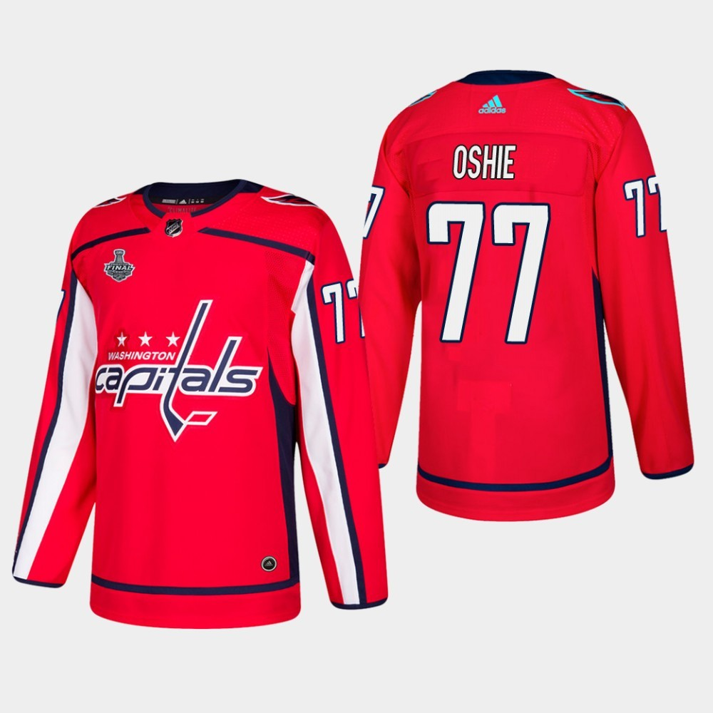 Capitals 77 T.J. Oshie Red 2018 Stanley Cup Final Bound Adidas Jersey