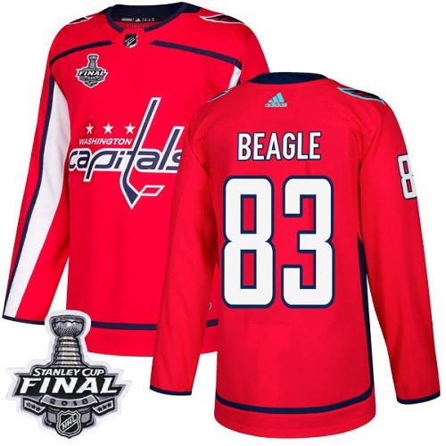 Capitals 83 Jay Beagle Red 2018 Stanley Cup Final Bound Adidas Jersey