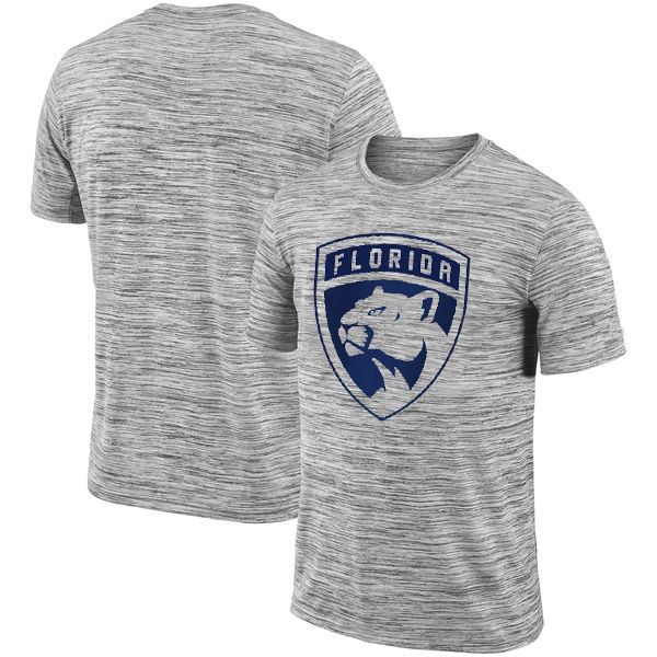Florida Panthers 2018 Heathered Black Sideline Legend Velocity Travel Performance T-Shirt