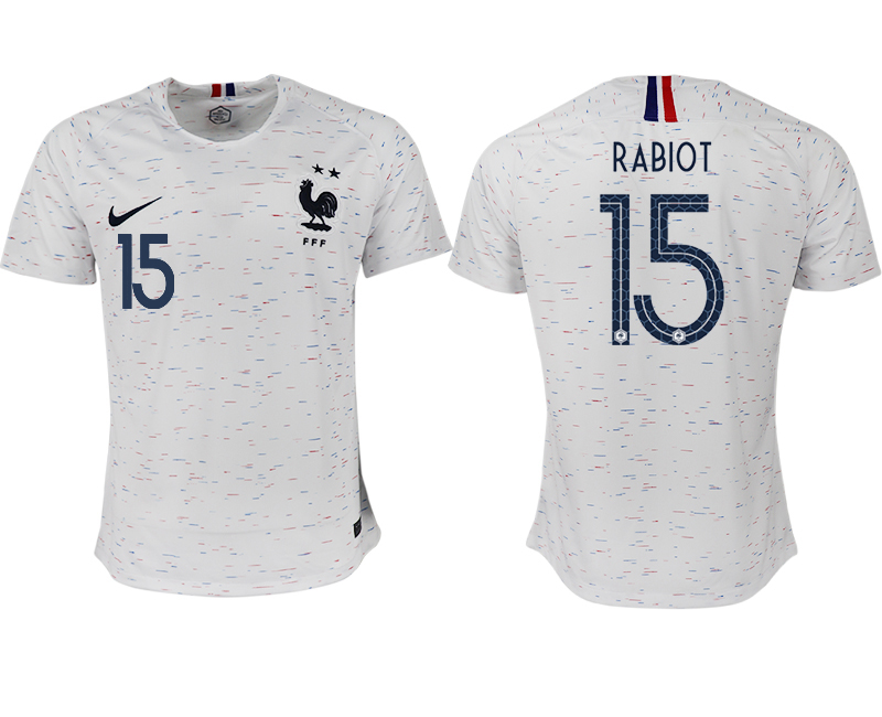 France 15 RABIOT Away 2018 FIFA World Cup Thailand Soccer Jersey