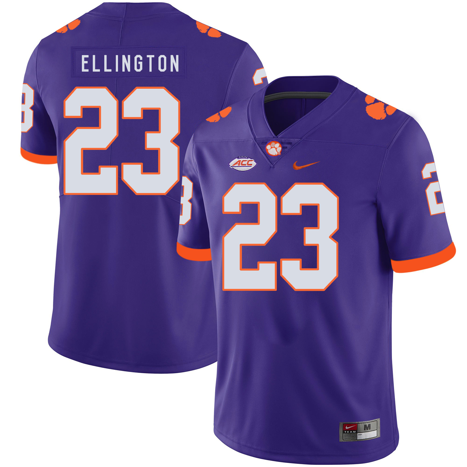 Clemson Tigers 23 Andre Ellington Purple Nike College Football Jersey