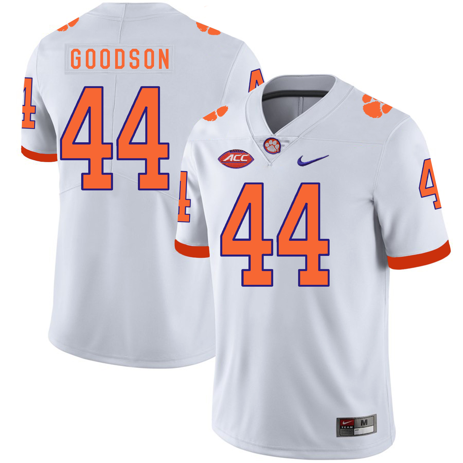 Clemson Tigers 44 B.J. Goodson White Nike College Football Jersey